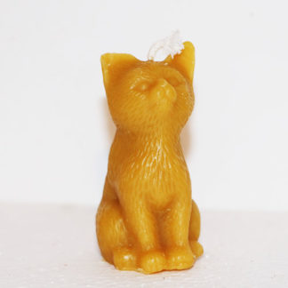 Bougie cire d'abeille Chat