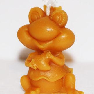 Bougie cire d'abeille grenouille reine